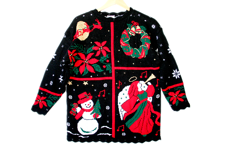 Vintage 80s Acrylic Tacky Ugly Christmas Sweater Women's ...