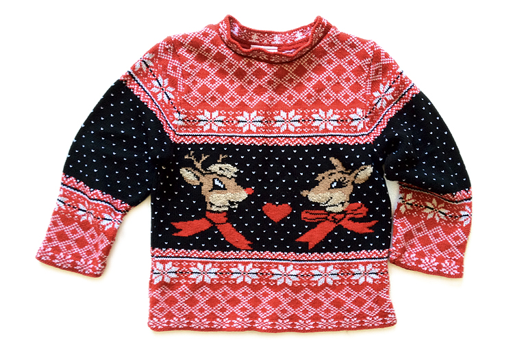 Vintage 90s Rudolph The Red Nosed Reindeer Tacky Ugly Christmas ...