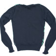 Cute or Ugly? Paul & Joe Navy V-Neck Cashmere Blend Sweater Junior's:Women's Size Large (L) 2