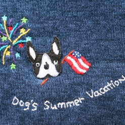 Dogs Summer Vacation Tacky Short Sleeve Cardigan Ugly Sweater Women's Size XL