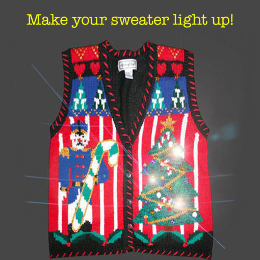 Light Up Your Ugly Christmas Sweater with Battery Operated LED Light Kit (Cool White)