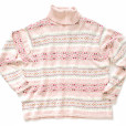 Nordic Snowflakes Pink Tacky Ugly Ski Sweater Women's Plus Size 22:24 (3X) - Brand New!