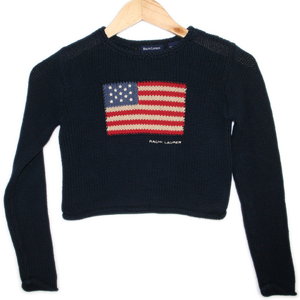 Kids Ralph Lauren 4th of July Patriotic USA Ugly Sweater