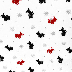 Scottie Dogs and Snowflakes Tacky Ugly Christmas Mock Turtleneck