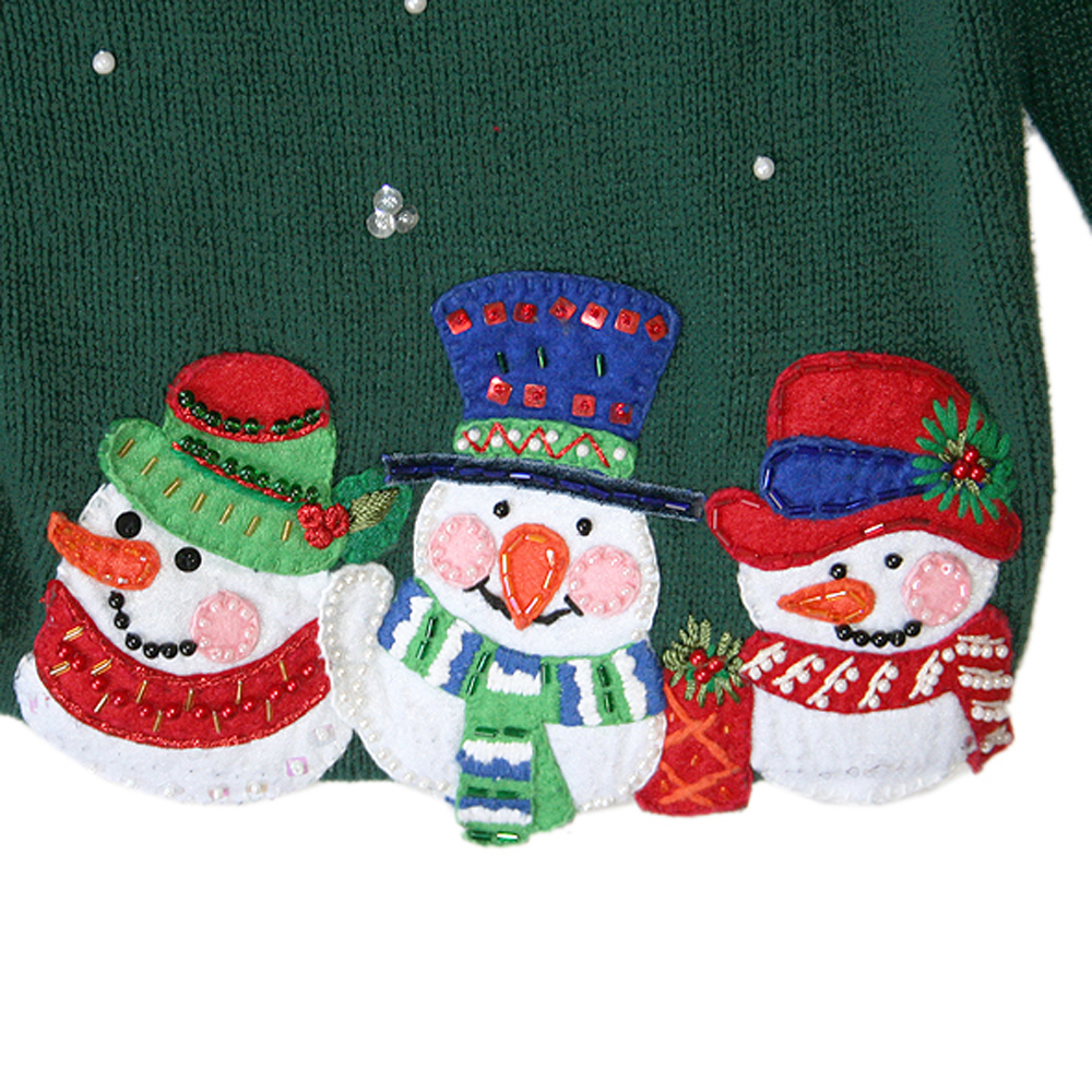 Snowmen Blobs Tacky Ugly Christmas Sweater - The Ugly Sweater Shop