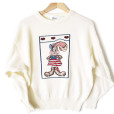 Vintage 80s American Rabbit Tacky Ugly Sweater Women's Size Large (L)