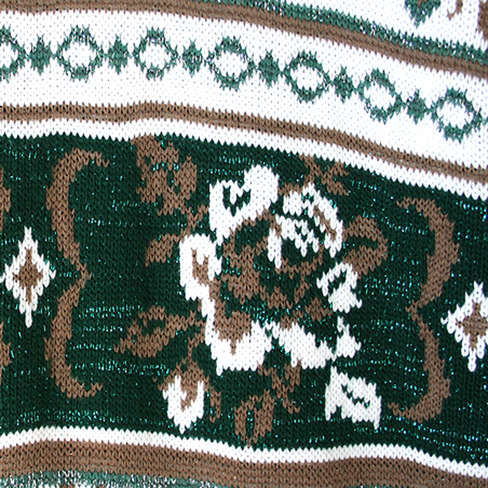 d41a912ff69b6e Vintage 80s Sparkle Roses Oversized Slouch St Patrick's Day Ugly Sweater  Women's Size ...