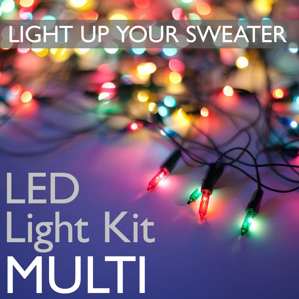 74bfef3d783 Light Up Your Ugly Christmas Sweater with Battery Operated LED Light ...