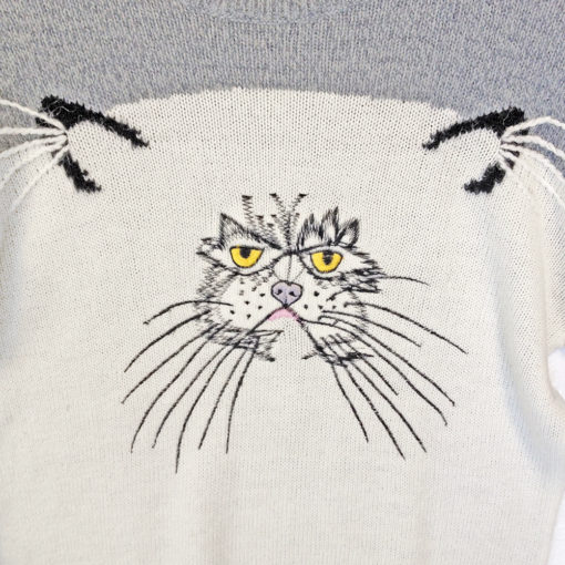 Grumpy Cat Vintage 80s Acrylic Ugly Sweater
