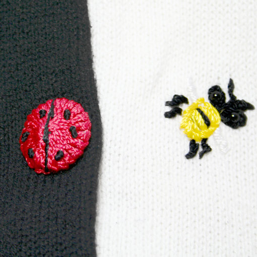 Ladybugs & Bees Short Sleeve Tacky Ugly Sweater womens size small