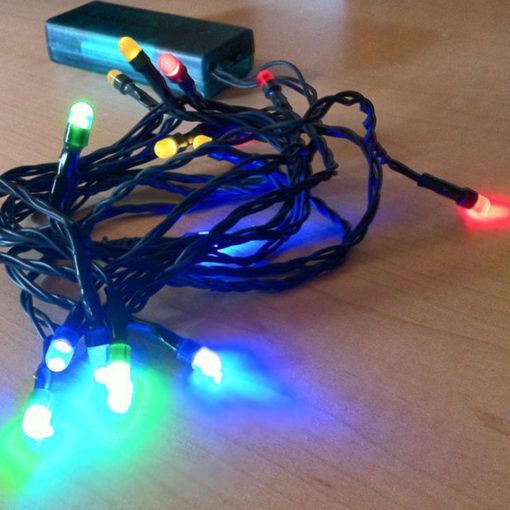 Make your Tacky Ugly Christmas Sweater a Light-Up Sweater with LED Light Kit multi