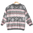 Oversized Beads & Ropes Tacky Ugly Ski Sweater