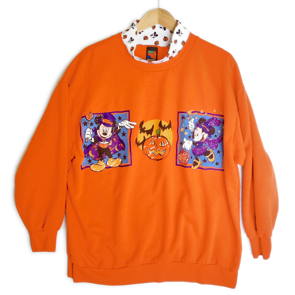 disney mickey mouse minnie halloween sweatshirt plus size