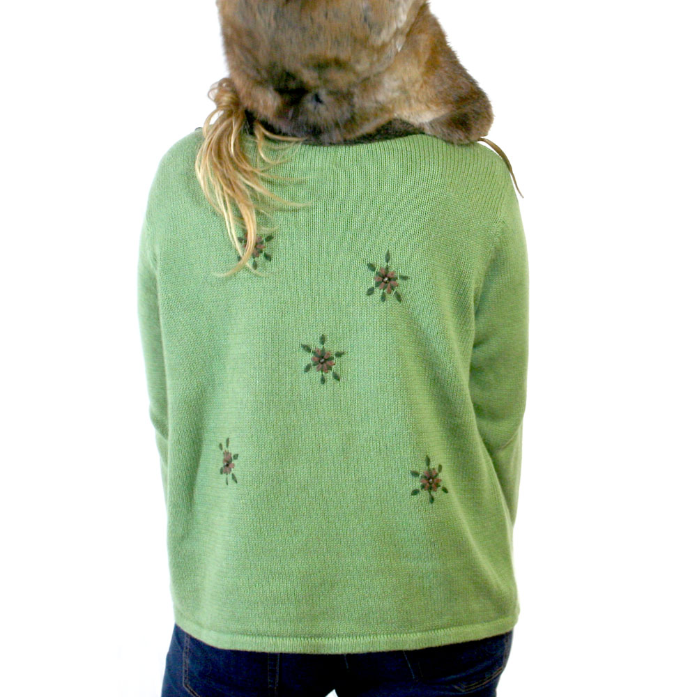 Santa Wears A Fur Coat Ugly Christmas Sweater - The Ugly Sweater Shop