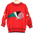 Vintage 80s Big Indian Head Ugly Sweater