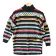 Vintage 90s Bright Tribal Aztec Oversized Cotton Ugly Sweater