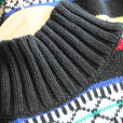 Vintage 90s Bright Tribal Aztec Oversized Cotton Ugly Sweater 2