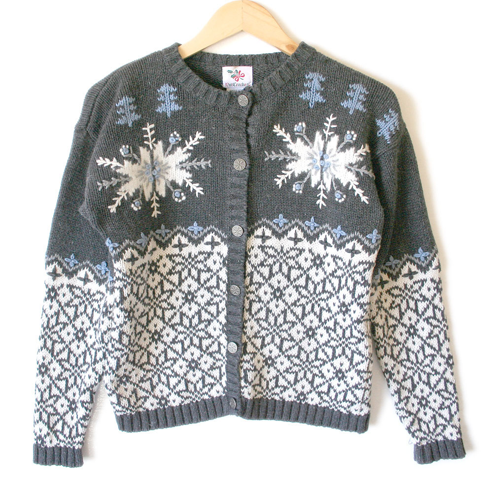 classic nordic snowflake ski ugly christmas sweater - Classic Christmas Sweaters