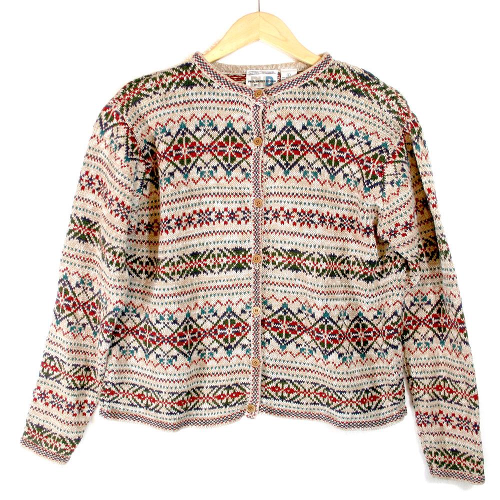 Fair Isle Cardigan Ski / Ugly Christmas Sweater - The Ugly Sweater ...