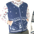 Mr Awkward Mitten Pockets Ugly Christmas Sweater Vest 2
