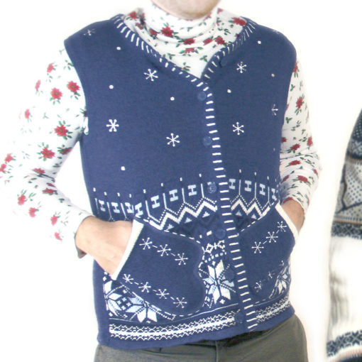 Mr Awkward Mitten Pockets Ugly Christmas Sweater Vest