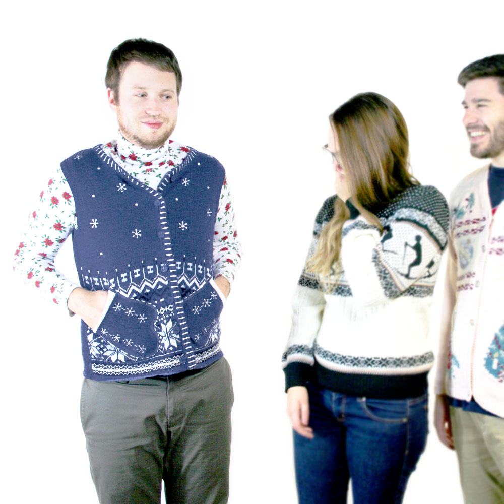 Mr Awkward Mitten Pockets Ugly Christmas Sweater Vest - The Ugly ...