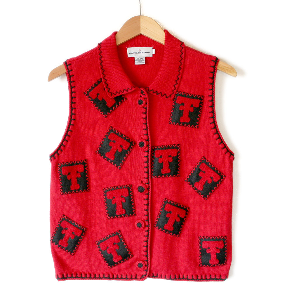 Red Raider Nation Texas Tech Ugly Sweater Vest The Ugly
