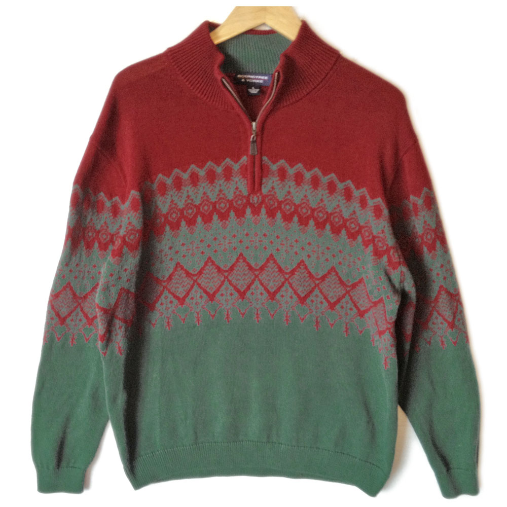 Red and Green Lightweight Nordic Cotton Ski / Ugly Christmas ...