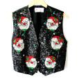 Richard Simmons' Blingy Bedazzled Sequin Santa Christmas Vest