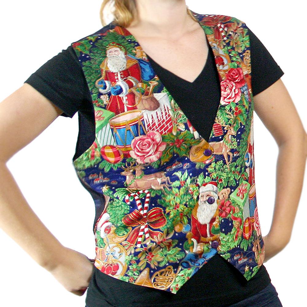 Christmas Vest.Sad Sack Santa Ugly Christmas Vest