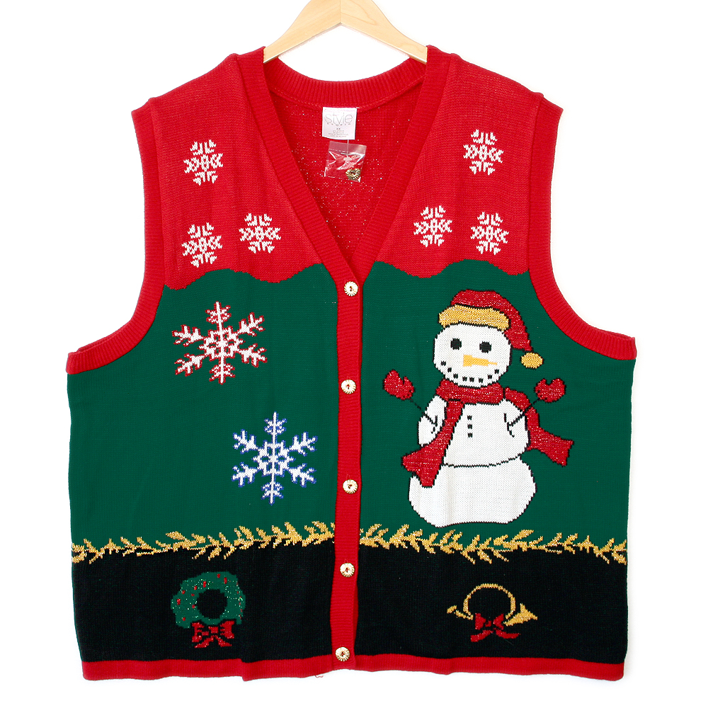 Third Grader Snowman Tacky Ugly Christmas Sweater Vest - New ...