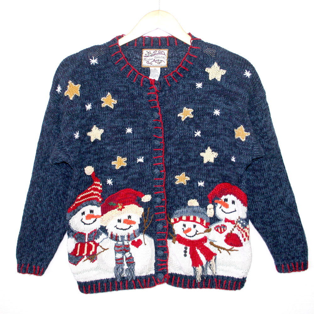 American Snowman Family Tacky Ugly Christmas Sweater - The Ugly ...