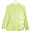 Coldwater Creek Fuzzy Lime Green Ugly Christmas Sweater 2