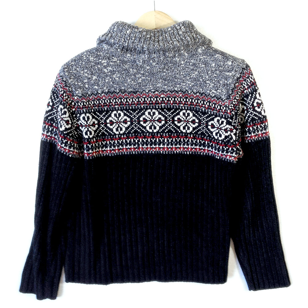 Drunk Uncle Style Zip Collar Nordic Ski Sweater The Ugly
