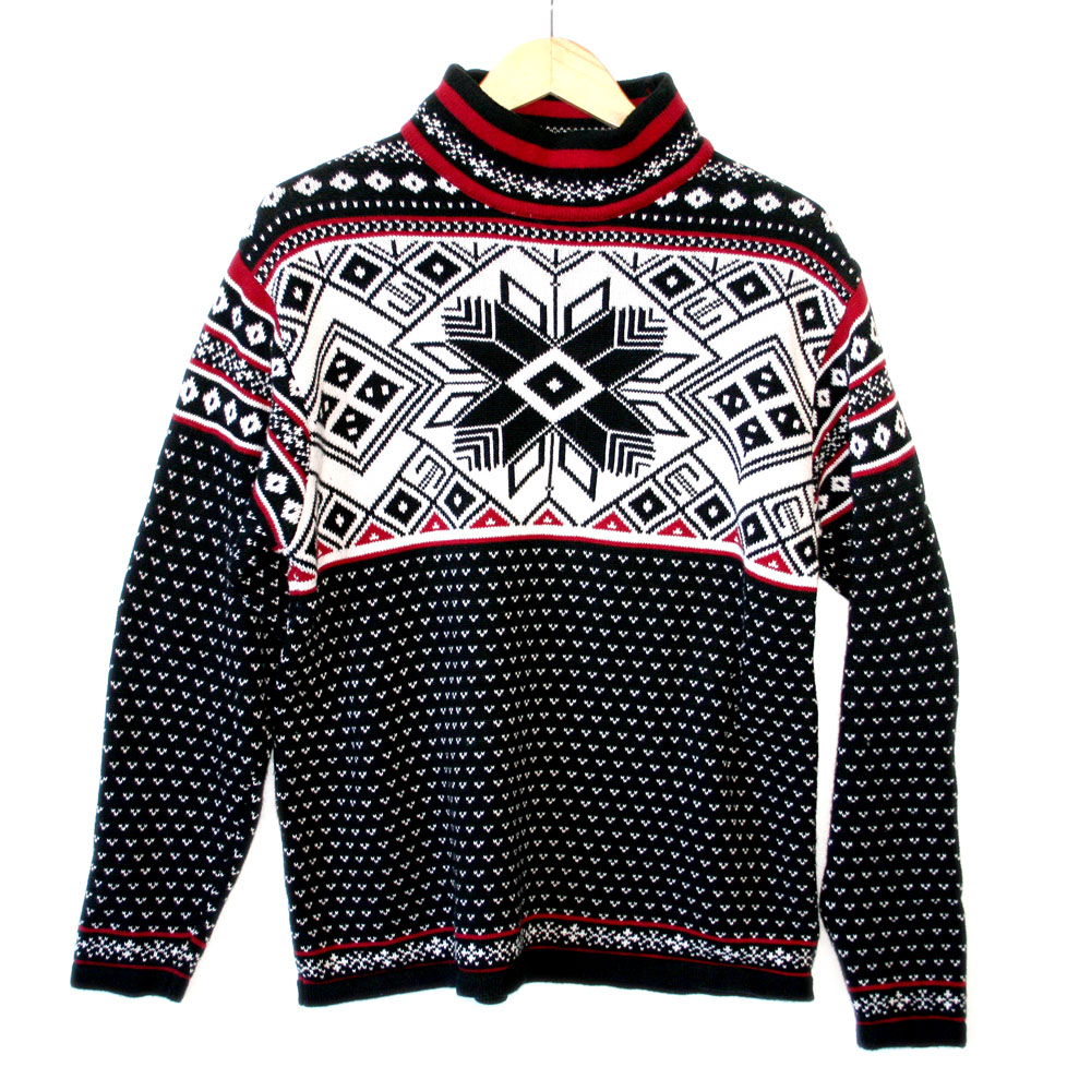 Men's Nordic Snowflake Classic Ugly Ski Sweater - The Ugly Sweater ...