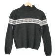 GAP Celtic Shamrock Clover Angora Blend Ugly Sweater
