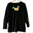 Quacker Factory Oversized Saggy Pears Fruit Ugly Sweater 2