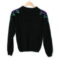Roses On My Shoulders Vintage 90s Ugly Gem Sweater 2