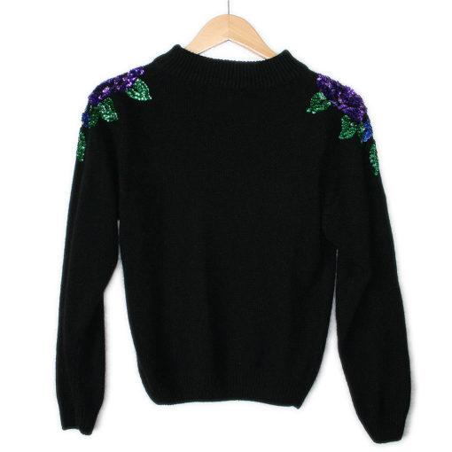Roses On My Shoulders Vintage 90s Ugly Gem Sweater