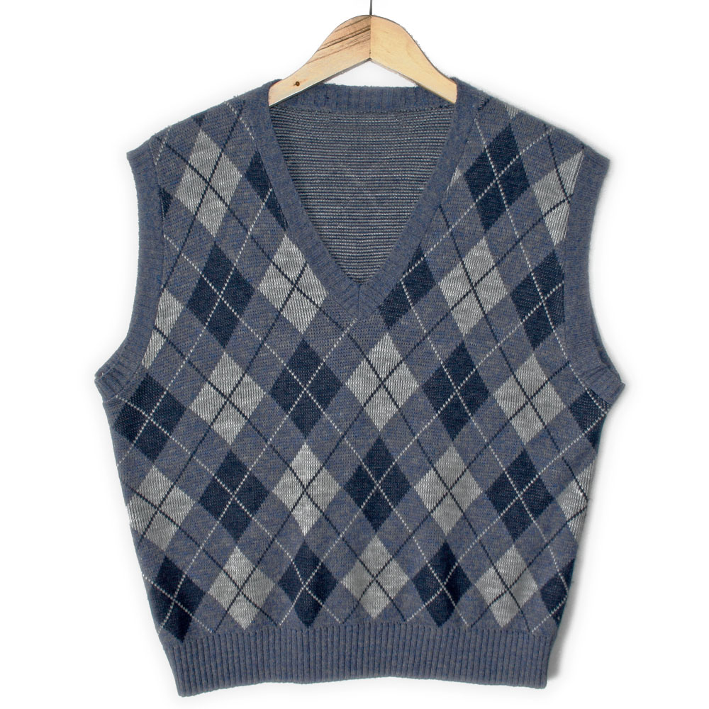 Preppy Argyle Tacky Ugly Golf Sweater Vest - The Ugly Sweater Shop