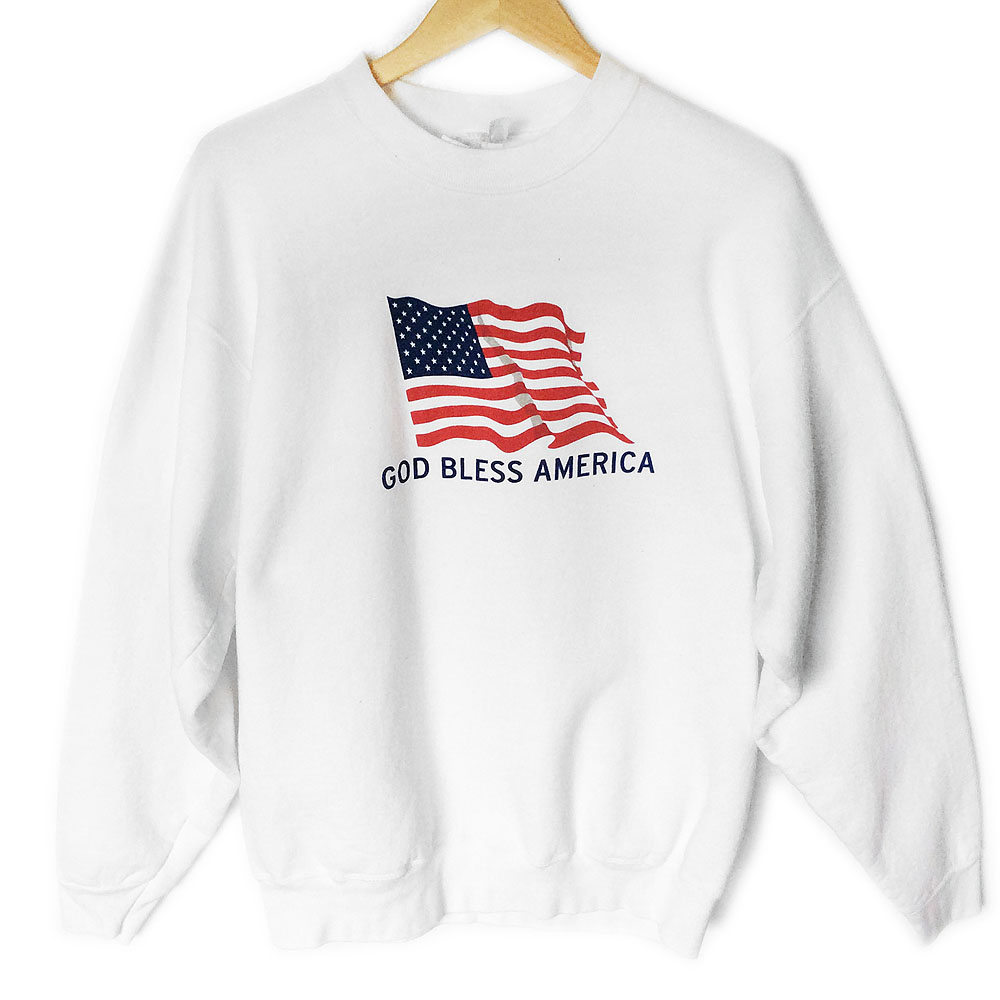 03c865278 God Bless America USA Party Tacky Ugly Grandpa Sweatshirt - The Ugly  Sweater Shop