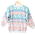 Vintage-80s-Sparkle-Cats-Pastel-Tacky-Ugly-Sweater
