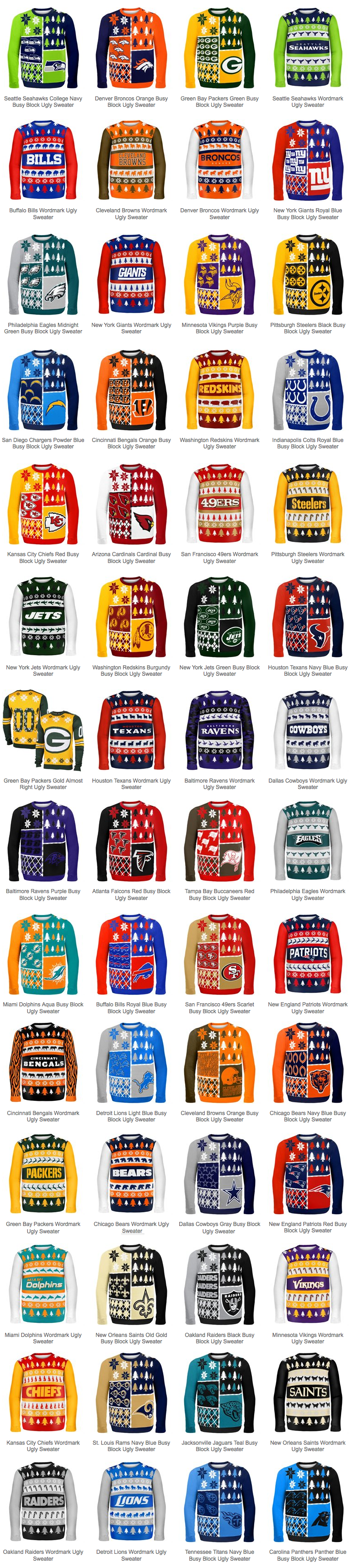 2014 nfl ugly christmas sweaters for sale - Nfl On Christmas 2014