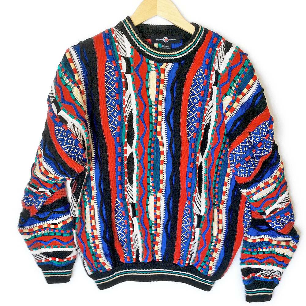 Bright Textured Multicolored Cosby Ugly Sweater - The Ugly Sweater ...