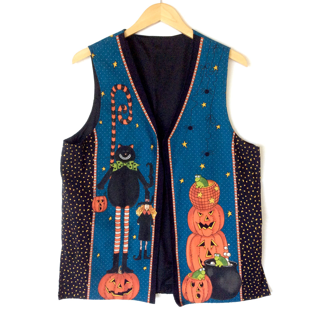 DIY Ghoul's Night Out Tacky Ugly Halloween Vest
