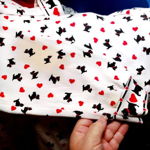 Heartbroken DIY Scotty Dog Tacky Ugly Valentines Sweatshirt