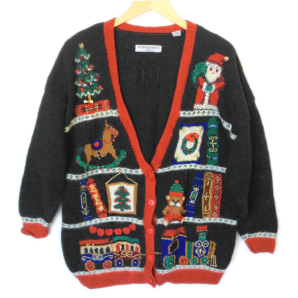 Toy Shelf Vintage 90s Tacky Ugly Christmas Sweater - The Ugly ...