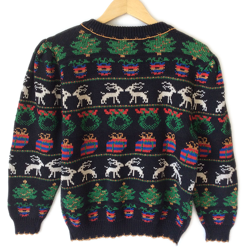 Vintage 80s 8-Bit Tacky Ugly Christmas Sweater - The Ugly ...