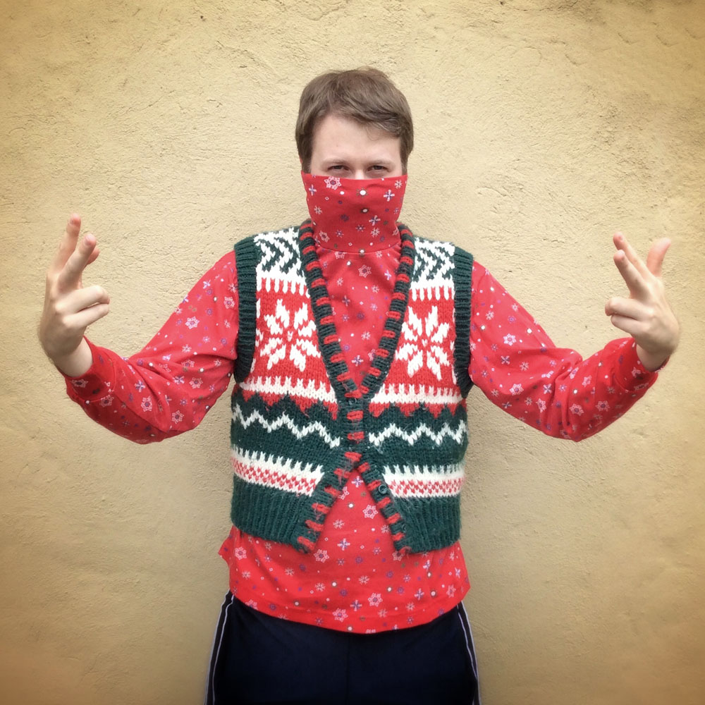 How to knit an ugly christmas sweater