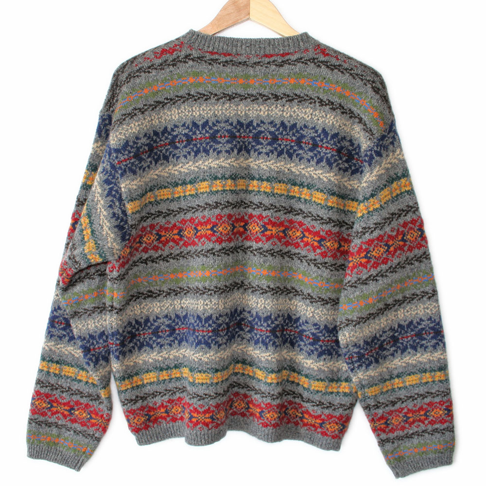 71f8a93893ea Vintage 90s J Crew Men s Wool Ugly Ski Sweater - The Ugly Sweater Shop
